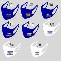 Trump Máscara Facial Trump 2020 Unisex macia gelo seda lavável pano cobrir a boca máscaras projeto LJJK