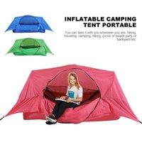 3-in-1 tenda da campeggio portatile a prova di insetti impermeabile gonfiabile sofà pigro Materassino Esterni Artefatto escursionismo Relax Tenda