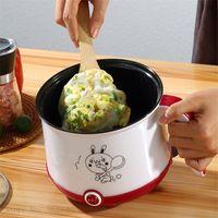 Freeshipping Petit électrique Mini Rice Cooker Machine de cuisine simple double couche 220 V Hot Pot multi électrique Rice Cooker EU UK US Plug