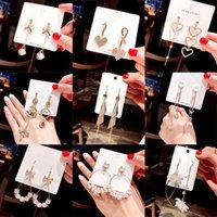 Koreanische Art und Weise Art Zircon-Perlen-Ohrringe Quaste Lange Frau Ohrring-Perlen-Blumen-Kristallohrring-lange Quaste Schmuck