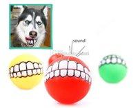 Dentes Dog Toys Chews Dog Pet Cachorrinho bola engraçado Silicon brinquedo de mastigar Som Dogs Jogar Brinquedos