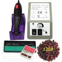 """lüks-Profesyonel Elektrikli Tırnak Matkap Makinesi Seti Nail Art Dosya 36 Bit 120"""" Zımpara Bant Akrilik Nail Art Ekipmanları Takım kesici kiti"""