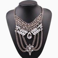 Kedjor mode chunky uttalande halsband metall kedja choker pendant sommar bib lyx för kvinnor smycken