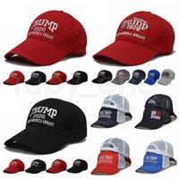 도널드 트럼프 2020 야구 모자 미국 국기 대통령 선거 만들기 미국의 위대한 다시 위장 자수 모자 파티 모자 공급 RRA3478