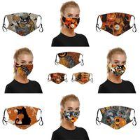 Polyester Kumaş Pamuk Insides Respiratörü Filtre Parçası Yeniden kullanılabilir Lady Mens 6 5NJ C2 koyun Can Kedi Kabak mascarilla Cadılar Bayramı Yüz Maskeleri