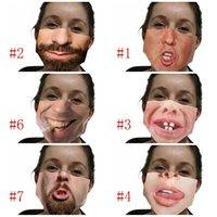 Lavabile respiratore antipolvere Mascarilla Reuseable panno della maschera di stampa polvere prevenzione Parasole divertente Barba Peculiar Nuovo 4 5wsg D2