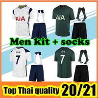 تايلاند الجودة KANE جيرسي لكرة القدم 2020 2021 LUCAS جيرسي ERIKSEN DELE عدة 20 21 SON كرة القدم قميص عدة رجال طقم + زي جورب