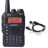 Walkie Talkie UV-8DR VHF UHF 136-174 / 240-260 / 400-520MHz CB Ham Radio 128 canale doppio con auricolare