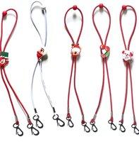 Natale Mask Cordino regolabile Lunghezza Maschera Extender Strap Cartoon Babbo Natale Anti-perdita titolare Maschera corda Favore di partito GGA3744-5