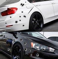 1pcs Funny Car Stickers 3D Bullet Trou Side Car Stickers voiture couvre-Moto Scratch Bullet réaliste Trou étanche