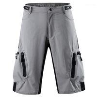 Respirável Mens Shorts Sólidos Pants colorida Esportes Homme Curto Casual solta Mid cintura Masculino Calças Biker