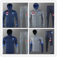 2020/2021 Napoli Tracksuit Hamsik insigne Callejon Zielinski 2020/21 SSC 나폴리 긴 지퍼 자켓 세트 2019 축구 Veste Suit
