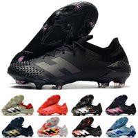 2021 최신 Predator mutator 20.1 신발 낮은 발목 FG 코어 블랙 화이트 레드 20+ 저렴 한 원래 축구 Cleats 축구 부츠 신발