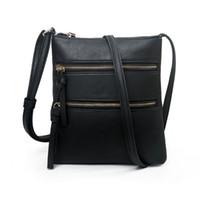 2020 neue Art und Weise Luxus-Frauen-Designer THINKTHENDO Frauen PU-echtes Leder-Schulter-Beutel Crossbody Handtasche Travel-Telefon-Beutel-Geldbeutel-Taschen