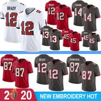 12 Tom Brady 87 Rob Gronkowski Homens Futebol Jerseys 2020 New Men Jerseys Chris Godwin Devin White Mike Evans Hot Sale