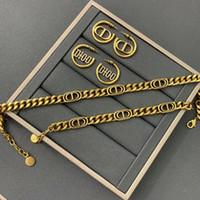 D Home 2020 Neue CD Brief Halskette Frauen Online Celebrity Heavy Industry Armband High Version Ohrringe