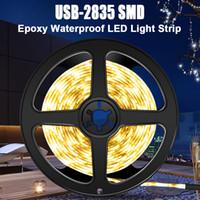 USB Su geçirmez Şerit LED Işık 5V 2835 SMD TV USB Şerit LED Lamba 1M 2M 3M 4M 5M Mutfak Ev Dekorasyonu Tv Ledstrip Işıklar