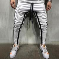 mens pantalones para hombre de algodón de deportes de los pantalones para hombre de estiramiento pantalones ocasionales de los deportes de fitness ajustados pantalones de los pantalones del basculador