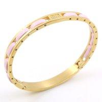 Donne calde di modo il nuovo disegno classico di lusso superiore di colore oro in ceramica braccialetti dei braccialetti per il partito delle donne di colore rosa braccialetti del regalo