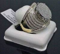 fashion Quality stainless steel Engagement Ring for Man Diamond Male Ring 18K Gold Semi Mount Jewelry