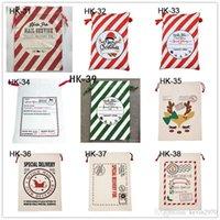 크리스마스 선물 가방 산타 클로스 자루 대형 캔버스 모노그램 단일 Drawstring 가방 크리스마스 장식