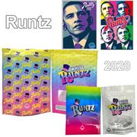 2020 Bianco Runtz Bags Mylar 420 Herb secco Fiore Imballaggio Plastic Mylar Bags Imballaggio 3.5 Borse Odore Proof Sealed Edibles Baggies Obama