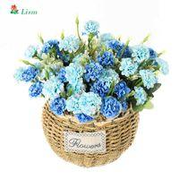 1Pcs Crisântemo Artificial do ramo das flores de graças Decoração Início Silk Flowers para Crafting Tecido Beleza para sempre