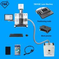 TBK 958C آلة فصل الليزر مجموعة كاملة مع النازع الدخان وقوالب آيفون 11 11Pro ماكس XS XR الظهر الزجاج المزيل 2020