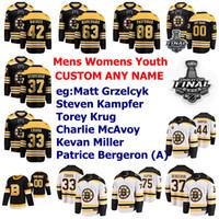 2019 Stanley Cup Final Boston Bruins maglie Brad Marchand Jersey Patrice Bergeron Chara Pastrňák Rask Hockey maglie Womens personalizzato cucito