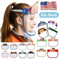 Schöne Kind-Karikatur-Gesichts-Schild Transparent Schutzmasken Staubdichtes Anti-Fog Gesichtsschutz Anti-Staub-windundurchlässige PET-Maske