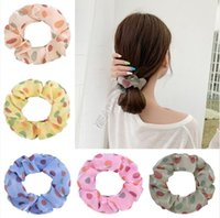 Rope Satin Hair Pois Scrunchies donne anello Copricapo alta Elestic anello elastico Copricapo Bobble Hairband capelli supporto del Ponytail D9312