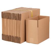 """WACO 8 """"X6"""" X4 """"Гофрированные бумажные почтовые ящики, Kraft Cardboard для упаковки и перемещения подарков, (пакет 100)"""