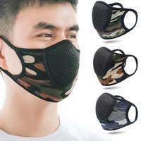 Máscara facial de camuflaje de Sunproof reciclaje del polvo anti reutilizable Mascarilla Deportes manera de la boca del respirador Protect paño de la gasa Ejecución 2 6kk B2