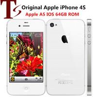 Восстановленные оригинальные Apple iPhone 4S разблокированы мобильный телефон Двойной Core 64GB / 32GB / 16GB 3.5 дюймов 5.0MP Smart Phone