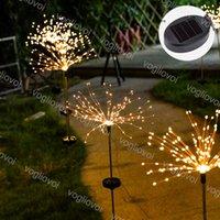 مصابيح الحديقة الشمسية حديقة الأنوار الألعاب النارية 152LEDS 200LEDS في الهواء الطلق للماء 8 نموذج 3000k متعدد الألوان مع تحكم لعيد عيد دي إتش إل