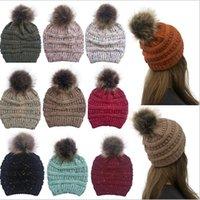 Femmes Chapeaux Tricotés Casquettes Laine Outdoor hiver Bonnet avec crochet boule de ski Cap Knit Hat Designer Baggy extensible Chunky Coiffures IIA449