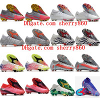 2020 رجل الفتيان أحذية كرة القدم زئبقي ال superfly 7 النخبة 13 FG كرة القدم الأحذية المرابط النساء الأطفال كرة القدم CR7 نيمار حجم 35-45