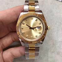 DayJust 36 mm 로즈 골드 다이얼 탑 남성 시계 날짜 시리즈 M126331 고품질 오리지널 기계적 날짜 그냥 손목 시계