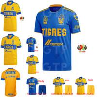Primera División de México 20 21 Tigres UANL maillots de pie camiseta de fútbol hogar lejos 3ª GIGNAC 2020 2020 mujeres y niños camiseta de fútbol 2XL