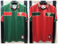 الرجعية الكلاسيكية 1998 المغرب لكرة القدم الفانيلة الحاج عواكيلي نكريز باسر 98 منزل بعيدا قميص كرة القدم الرجعية