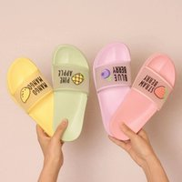 2020 Summer Slippers Shoes Women cute Fruit Jelly Color Tran...