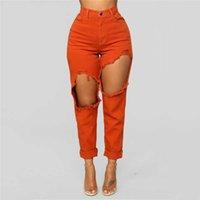 Jeans de femme Femmes Femmes Stretch Femme Taille haute Slim Sexy Pencil Pantalon Personnalité Denim Torn