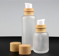 50G Glass Jar Wtih Plastic Wood Grain Lids 50ML 110ML 150ML ...