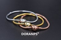 DORANPS moda gioielli perline fascino S925 bracciale originale per le donne di fascino braccialetto 925 regali gioielli catena del serpente