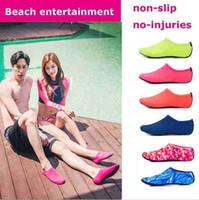 Playa Deportes acuáticos Buceo Calcetines 5 colores Natación Snorkel antideslizante Mar Beach Surf calzado transpirable calcetines Juego en la arena FY420