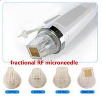 4 ipucu Tek yerine 10/25 / 64 / nano pimi ileri altın kartuşu fraksiyonel RF mikroiğne mikro iğne makinesi kartuşu microneedling