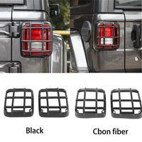 ABS Araç Arka Kuyruk Işık Lambası Guard Kapak Trim için Jeep Wrangler JL 2018+ Otomobil Dış Aksesuar