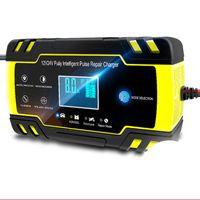Autovers 자동차 12V-24V 8A 전체 자동 배터리 충전기 디지털 LCD 화면 자동차 배터리 충전기 전원 수리 충전기 습식 건식 산을 리드