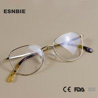 Lega farfalla dell'annata rotonda occhiali alla moda occhiali da vista Donne del frame Occhiali donne Eyewear miopia ottico