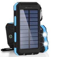 Venta directa del fabricante de LED de doble cargador solar resistente al agua 20000 Ma brújula fuente de alimentación móvil